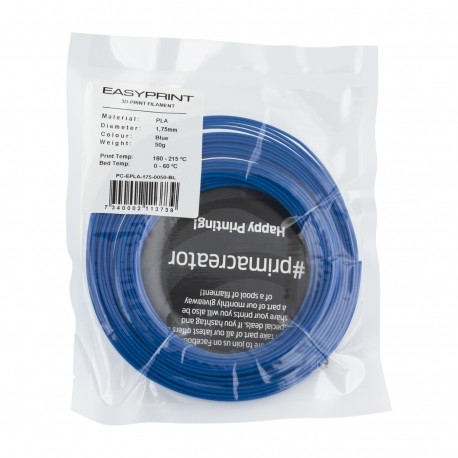 Echantillon EasyPrint PLA  - 1.75mm - 50 g - Bleu